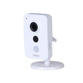 IP камера Dahua IPC-K26, Cube камера, 2.1Mpx (2304x1536@20fps), 2.8mm обектив, H.265/MJPEG, осветеност (до 10m), вътрешна, RJ-45 image