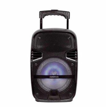 Тонколона Omega Speaker OG83 Karaoke, 1.0, 10W RMS, Bluetooth, AUX, MicroSD слот, FM радио, черна image