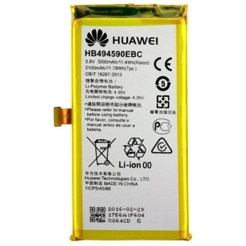 Батерия (оригинална) Huawei HB494590EBC за Huawei Honor 7, 3000mAh/3.8V image