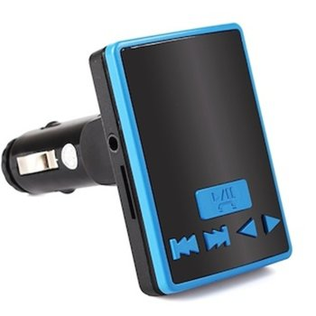 FM трансмитер BF805, LCD дисплей, вграден еквалайзер, поддържа SD карти и USB, син image
