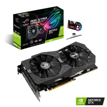 Видео карта nVidia GeForce GTX1650, 4GB, Asus ROG Strix GTX 1650 OC Edition, PCI-E 3.0, GDDR5, 128Bit, DP, HDMI image