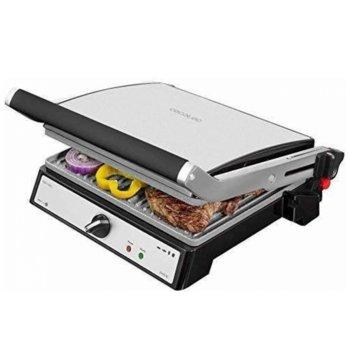 Контакт грил Cecotec Rock'n grill Pro, мраморно покритие RockStone, 180º отваряне, реверсивни плочи, тава за мазнини, индикатори за отопление и температури, 2000W image