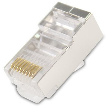Конектори Vcom, RJ-45, STP, Cat 6, екранирани, 20бр. image
