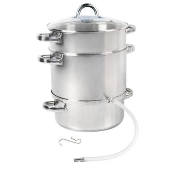 Соковарка Sapir SP 1260 A26, 8 литра, неръждаема стомана, капсуловано термо дъно, подходяща за индукционни котлони, инокс image