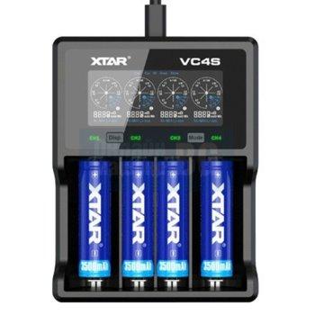 Зарядно устройство Xtar VC4S, с 4 гнезда за A; AA; AAA; AAAA; C; D; SC; 10440; 14500; 14650; 16340; 17335; 17500; 17670; 18490; 18500; 18650; 22650; 32650 батерии image