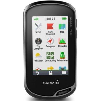 """Ръчна навигация Garmin Oregon 750t, 3"""" (7.6 cm) TFT дисплей, 4GB + microSD Flash, Bluetooth, Wi-Fi, 8MP камера, карта на Европа и Световна базова карта image"""