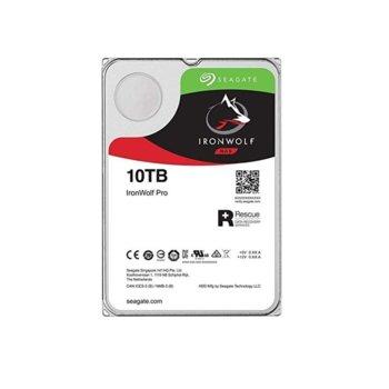 """Твърд диск 10TB Seagate IronWolf Pro ST10000NE0008, SATA 6Gb/s, 7200 rpm, 256MB кеш, 3.5"""" (8.89cm) image"""