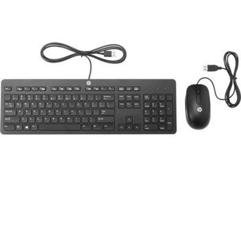 Комплект клавиатура и мишка HP Slim T6T83AA, мишка и клавиатура, USB, черни image