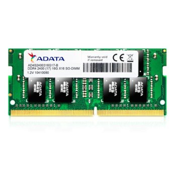 Памет 16GB DDR4 2400MHz, SO-DIMM, A-Data AD4S2400316G17-B, 1.2V image