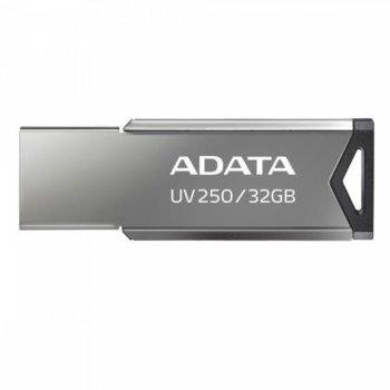 Памет 32GB USB Flash Drive, A-Data UV250 (AUV250-32G-RBK), USB 2.0, сива image