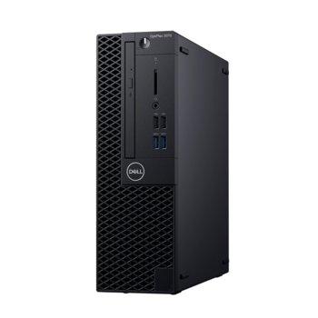Настолен компютър Dell OptiPlex 3070 SFF (DTO3070SFFI34G1TW_WIN-14), четириядрен Coffee Lake Intel Core i3-9100 3.6/4.2 GHz, 4GB DDR4, 1TB HDD, 4x USB 3.1, клавиатура и мишка, Windows 10 Pro  image