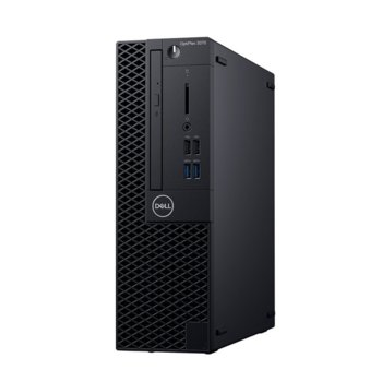 Настолен компютър Dell OptiPlex 3070 SFF (DTO3070SFFI34G1TW_WIN-14), четириядрен Coffee Lake Intel Core i3-9100 3.6/4.2 GHz, 4GB DDR4, 1TB HDD, 4x USB 3.1, клавиатура и мишка, Windows 10 Pro  image