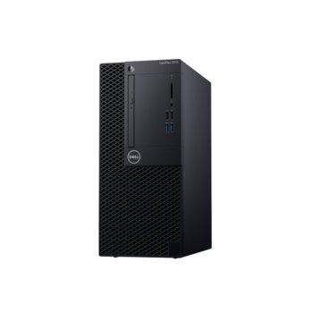 Настолен компютър Dell OptiPlex 3070 MT (N505O3070MT_UBU-14), четириядрен Coffee Lake Intel Core i3-9100 3.6/4.2 GHz, 4GB DDR4, 1TB HDD, 4x USB 3.1, клавиатура и мишка, Linux image