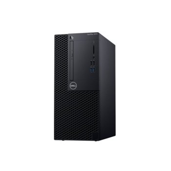Настолен компютър Dell OptiPlex 3070 MT (N505O3070MT_UBU-14), четириядрен Coffee Lake Intel Core i3-9100 3.6/4.2 GHz, 4GB DDR4, 1TB HDD, 4x USB 3.1, клавиатура и мишка, Linux image