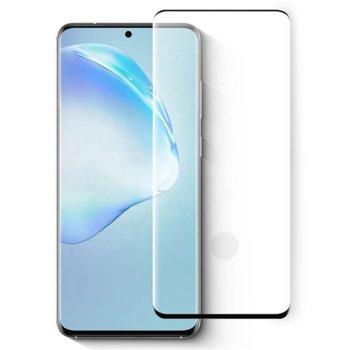 Протектор от закалено стъкло /Tempered Glass/ за Samsung Galaxy S20, 3D, 0.3mm, черен image