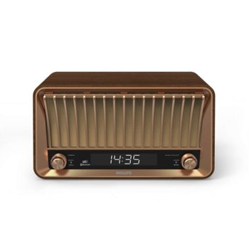 Радио Philips TAVS700, цифрово, FM, DAB, часовник, Bluetooth, USB, 2x 10W, кафяво image