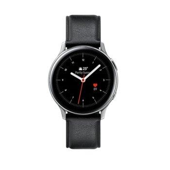 Смарт часовник Samsung Galaxy Watch Active2 SM-R830N (SM-R830NSSABGL), до 95 часа време за работа, неръждаема стомана, сребрист image