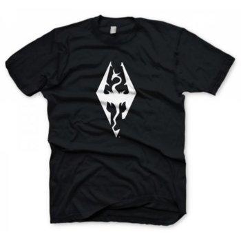 Тениска Gaya Entertainment The Elder Scrolls V: Skyrim Dragon symbol, размер S, черна image