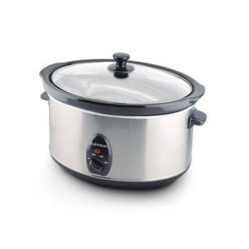 Уред за бавно готвене Rohnson R 2840, 320W, 3 температурни нива, 6.5 л. съд, защита от прегряване, инокс image