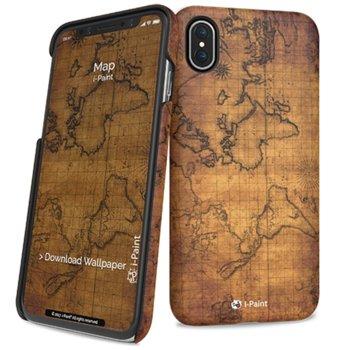 Калъф за Apple iPhone XS, поликарбонатов, iPaint Map HC 860103, щампа image