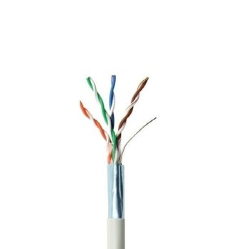 Кабел ACnetPLUS FTP Solid 24AWG Class D, U/FTP, Cat 5e, 1m, бял image