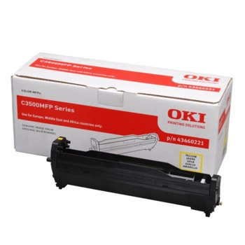 Drum Unit  ЗА OKI C 3520/3530/MC 350/360 - Yellow - P№ 43460221 - заб.: 15000k image