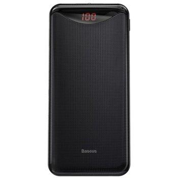 Bъншна батерия /power bank/ Baseus Gentleman (PPLN-A01), 10 000mAh, черна, 2x USB A, 1x USB Micro, LED фенерче image