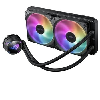 Водно охлаждане за процесор Asus ROG STRIX LC II 280 ARGB, съвместимо с 1150/1151/1155/1156/1200/2066 & AMD AM4/TR4 image