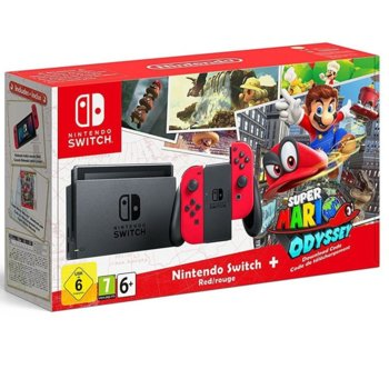Nintendo Switch Red 32GB Super Mario Odyssey  product