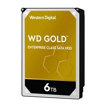 """Твърд диск 6TB WD Gold Enterprise, SATA 6Gb/s, 7200 rpm, 128MB, 3.5"""" (8.89 cm) image"""
