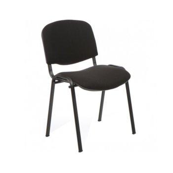 Посетителски стол ISO Black, дамаска, прахово боядисан, черен image