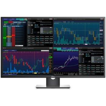 """Монитор Dell P4317Q, 43"""" (109.22 cm) IPS панел, 4K, 8ms, 1000:1, 350cd/m2, Display port, HDMI, USB  image"""