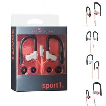 Слушалки Energy Sistem Earphones Sport 1, микрофон, червени image