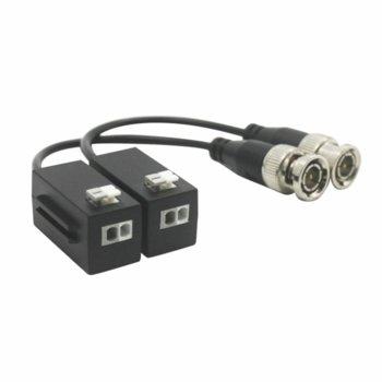 Коаксиален кабел Dahua PFM800-4MP, от BNC(ж) към UTP cat. 5e/6, 1 канал, черен image