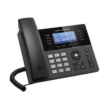 "VoIP телефон Grandstream GXP1780, 3.3"" (8.38 cm) цветен LCD дисплей, 8 линии, 2x LAN10/100, PoE, USB, черен image"