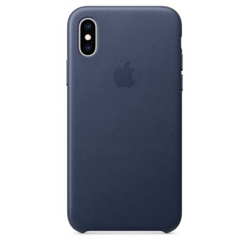 Apple iPhone XS Leather Case - Midnight Blue product