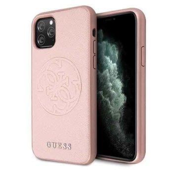 Калъф за Apple iPhone 11 Pro, хибриден, Guess Saffiano 4G GUHCN58RSSASRG, удароустойчив, розово злато image