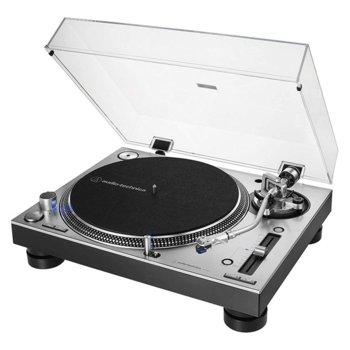 DJ грамофон Audio-Technica AT-LP140XP, ръчно управление, директно задвижване от мотора, регулируем динамичен анти-скейт контрол, 33/45/78 оборота в минута, 2x RCA, сребрист image