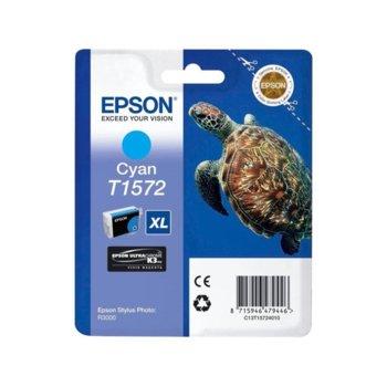 ГЛАВА ЗА EPSON STYLUS PHOTO R3000 - Cyan - P№ C13T15724010 - заб.: 25.9ml. image