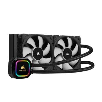 Водно охлаждане за процесор Corsair iCUE H100i RGB PRO XT, съвместимост с Intel 1150/1151/1155/1156/2011/2066 & AMD AM4/AM3/AM2/sTR4/sTRX4 image