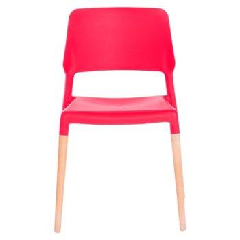 Трапезен стол Carmen 9967 - червен bt-3530262 product