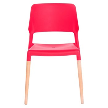 Трапезен стол Carmen 9967, червен image
