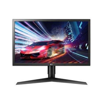 """Монитор LG 24GL650-B, 24"""" (60.96 cm) TN LED, 144Hz, Full HD, 1ms, 300 cd/m2, HDMI, Display Port image"""