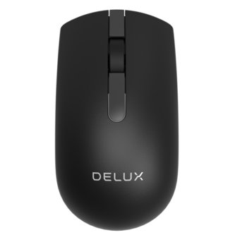 Мишка Delux M322GX, безжична, оптична (1000dpi), USB, черна image