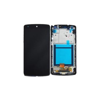 Дисплей за LG Nexus 5, LCD with touch and frame, черен image