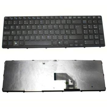 Клавиатура за лаптоп SONY, съвместима със серия VAIO SVE15, UK, черна рамка image