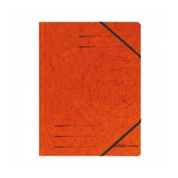 Папка Herlitz Easy Orga, за документи, изработена от картон, с три капака и ластик, размер 250х340мм, оранжева image