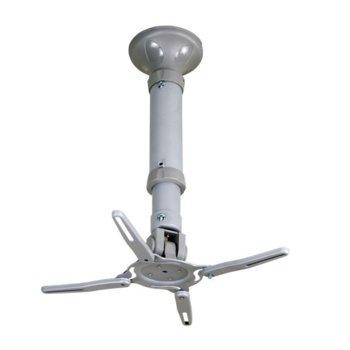 Стойка за проектор Roline 17.99.1102, за таван, до 11.5кг, наклон и завъртане, сива image
