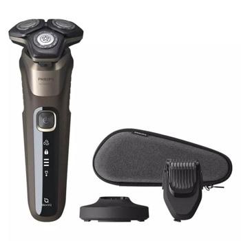 Самобръсначка Philips S5589/38, за сухо и мокро бръснене, до 60 минути време на работа, Power Adapt сензор, черен image