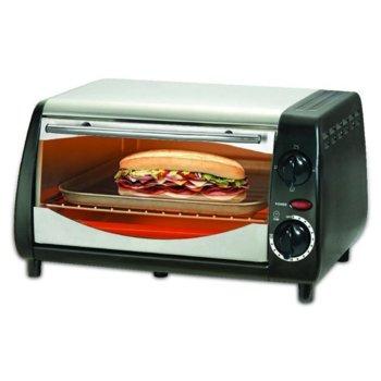 Тостер за сандвичи - фурна SAPIR SP 1441 NSB, 10 литра, таймер, 800W, черна/сребриста image